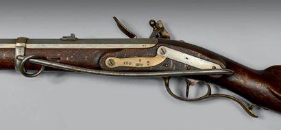 Mousqueton réglementaire de cavalerie à silex à tringle, modèle allemand, daté 1839....
