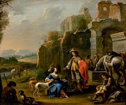 ARTISTE FLAMAND en Italie au XVIIe siècle