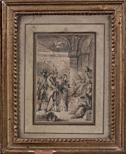 École FRANÇAISE du XVIIIe siècle La continence de Scipion La défense du déserteur...