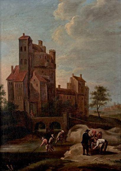 Ecole FLAMANDE du XVIIIe siècle, dans le goût de David TENIERS