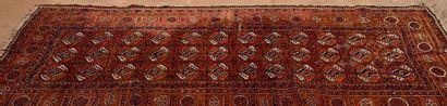 Petit tapis Boukhara à décor de gülhs sur...