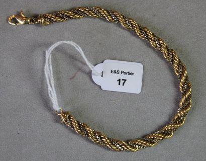 Bracelet en ors jaune et gris 750 millièmes...