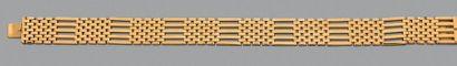 Bracelet articulé en or jaune 750 millièmes...