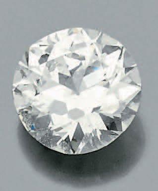 Diamant de forme ronde et de taille ancienne...