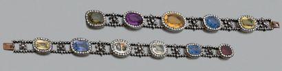 Collier pouvant former deux bracelets en...