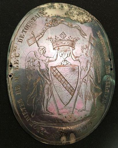 Comte de Toustain, plaque de brassard en...