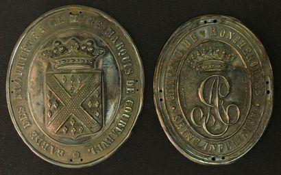 Courtavel, Roncherolle, lot de deux plaques...