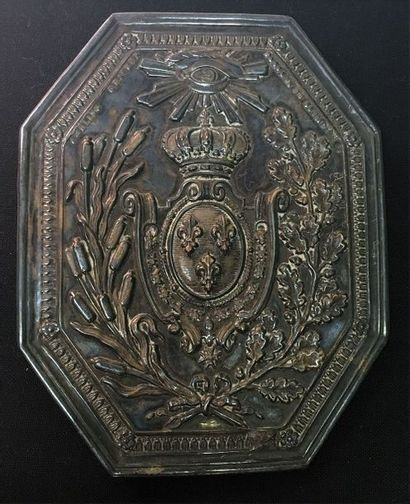 Douanes royales, Restauration, plaque de...