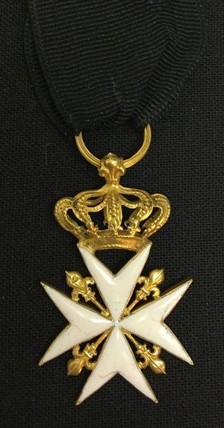 Ordre de Malte - Croix de chevalier en or...