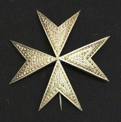 Ordre de Malte - Petite plaque de chevalier...