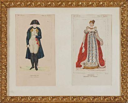L'Empereur Napoléon Ier et l'Impératrice...