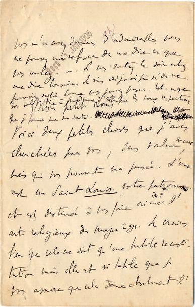 PROUST (Marcel) Lettre autographe signée «Marcel». S.l., [date de réception du 1er...