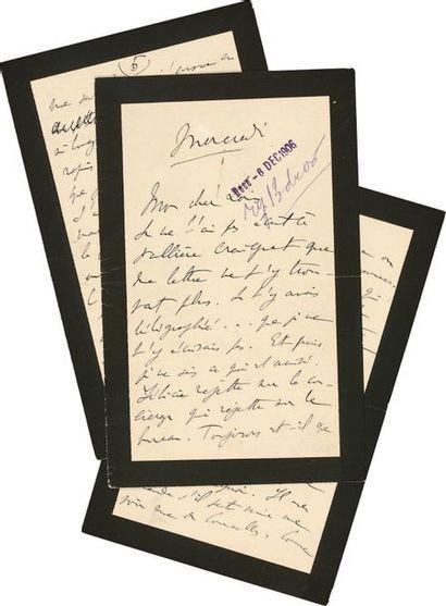 PROUST (Marcel) Lettre autographe signée «Marcel». [Versailles], «mercredi» [5 décembre...