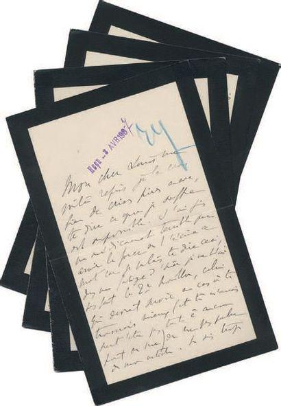 PROUST (Marcel) 2 lettres autographes signées, l'une «Marcel» et l'autre «ton Marcel»....