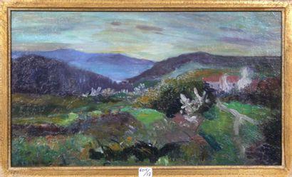 Georges Le MEILLEUR (1861-1945) Le printemps à Hendaye Huile sur toile Signé en bas...