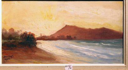 Georges Le MEILLEUR (1861-1945) Le Jeskibel au-dessus de Fontarabie Signé et daté...