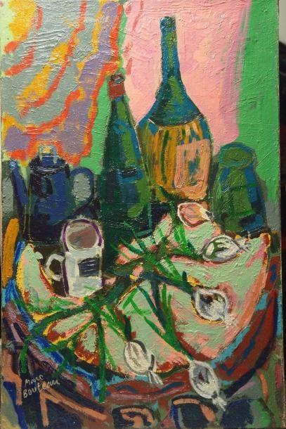 Marc BOUTEAU (1935) Composition à la carafe, 1978 Huile sur toile Signé en bas à...