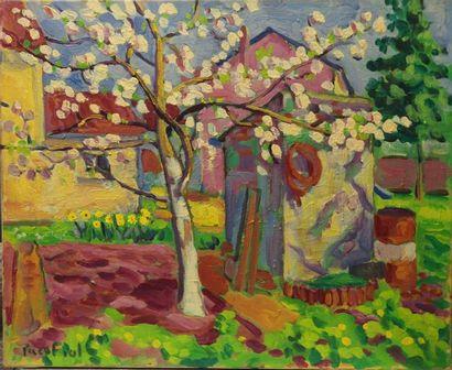 Paco FIOL (1939) Le printemps, 1984 Huile sur toile Signé en bas à droite 60x73 ...