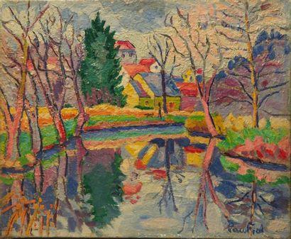 Paco FIOL (1939) Matin d?hiver, 1978 Huile sur toile Signé en bas à droite 50x61...
