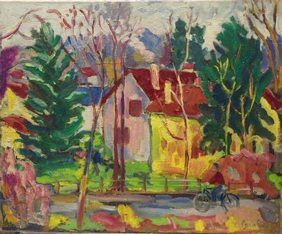 Paco FIOL (1939) Fin d?automne, 1982 Huile sur toile Signé en bas à droite 50x61...