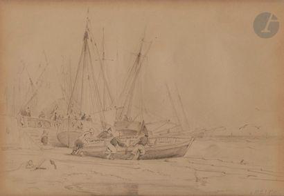 Jules NOËL (1810-1881) Le Départ pour la...