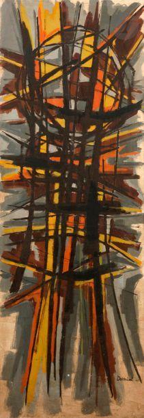 DEVERINI (XXe) Composition, 1960 Huile sur...