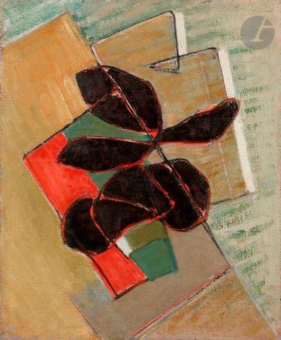 Maurice Henri GAUDEFROY (1883-1972) Nature morte, vers 1930 Huile sur toile. Porte...