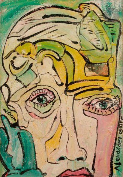 Alexander GORE (né en 1958) Strongly predisposed face toward sense impressions,...