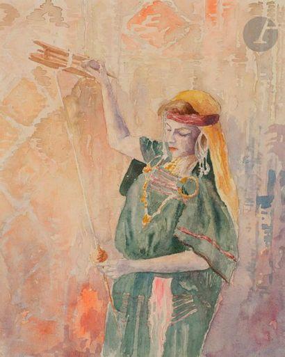 Alexandre LUNOIS (1863-1916) Femme orientale...