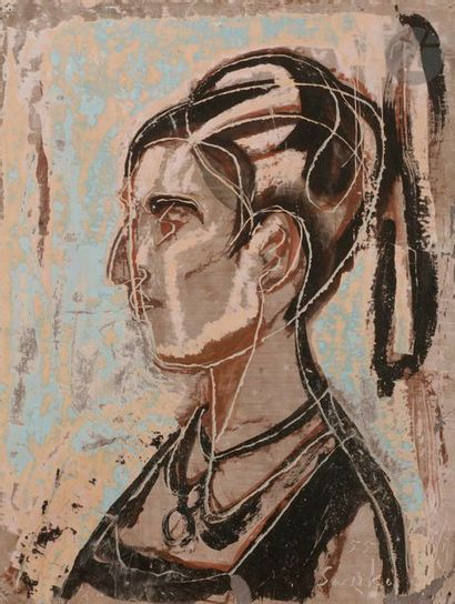 Sanko INOUE [japonais] (1899-1981) Profil...
