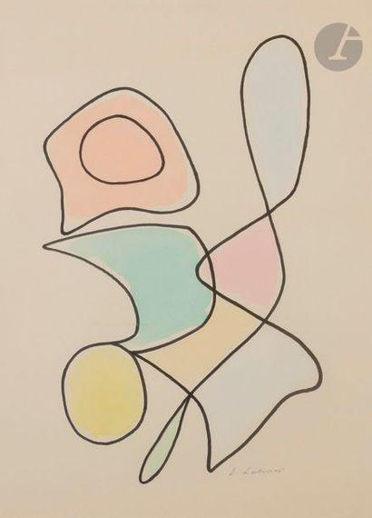 Émile LAHNER (1893-1980) Composition Feutre...