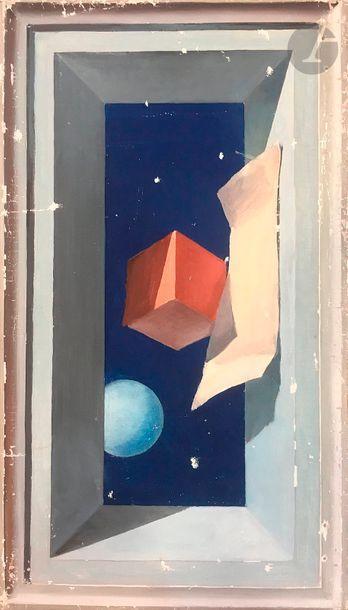 Paul MANTES (1920-2004) Composition géométrique...