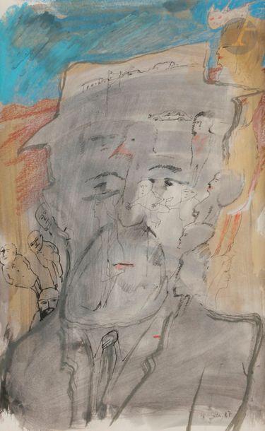 Zwy MILSHTEIN (né en 1934) Homme au chapeau,...