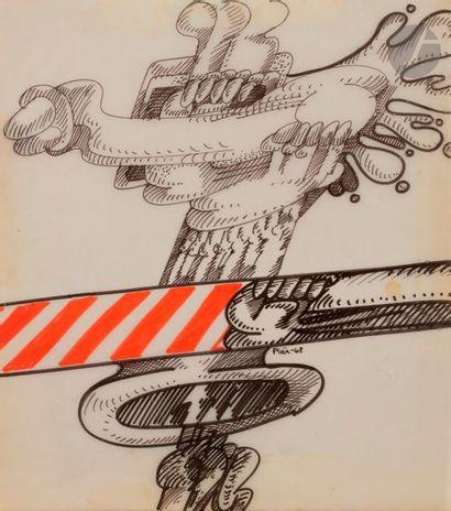 PENA (XXe siècle) Composition, 1968 Feutre...