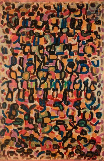 Charles PIQUOIS (1914-2005) Le Chant fauve,...