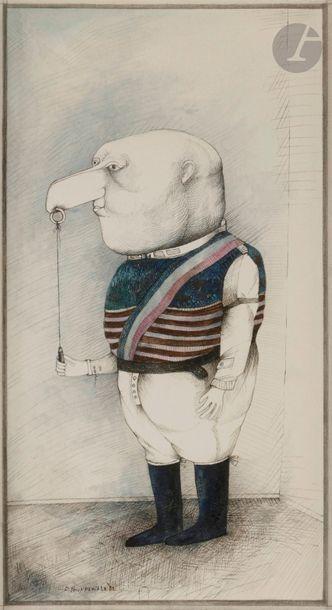 Denis POUPPEVILLE (né en 1947) Genre chasse-d...