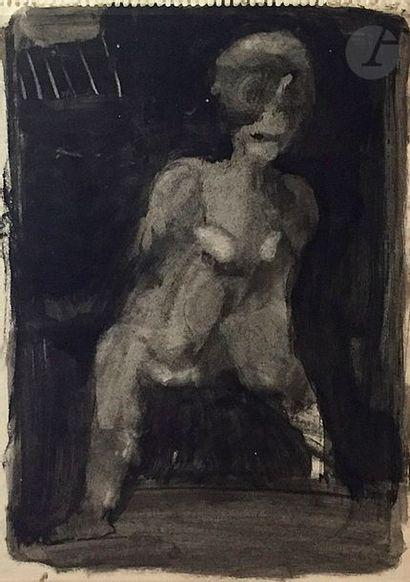 RAMON (né en 1937) Silhouette Technique mixte...