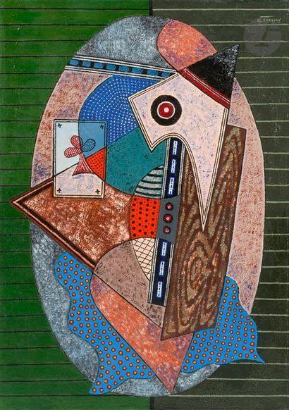 Georges TERZIAN (né en 1939) Médaillon, 2003 Huile sur toile. Signée en haut à droite....