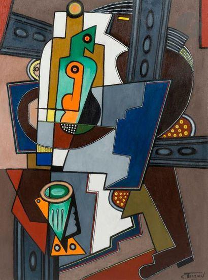 Georges TERZIAN (né en 1939) La Carafe verte,...