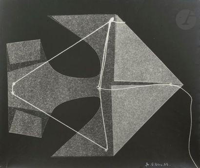 André VILLERS (1930-2016) Composition Pastel...