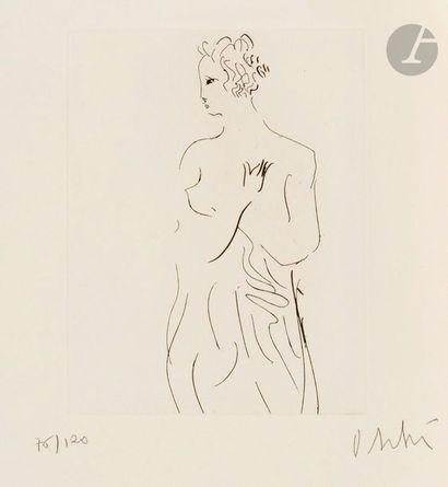 Olivier DEBRÉ (1920-1999) Femme à la draperie,...