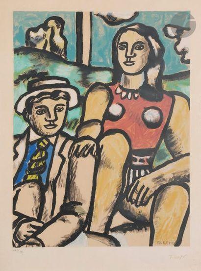 D'après Fernand LÉGER Femme et homme en chapeau,...