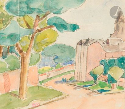 Adolphe-Marie BEAUFRERE (1876-1960) Eglise...