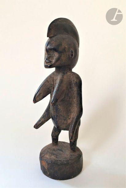*AFRIQUE Statuette de fertilité Hauteur:...
