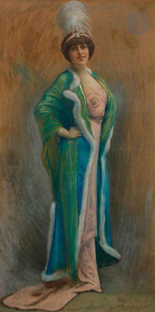 ÉCOLE vers 1900 Portrait présumé de Sarah...
