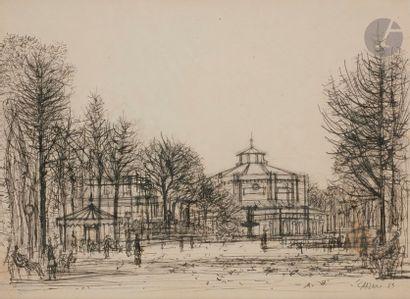 Jean CARZOU (1907-2000) Square de Berlin,...