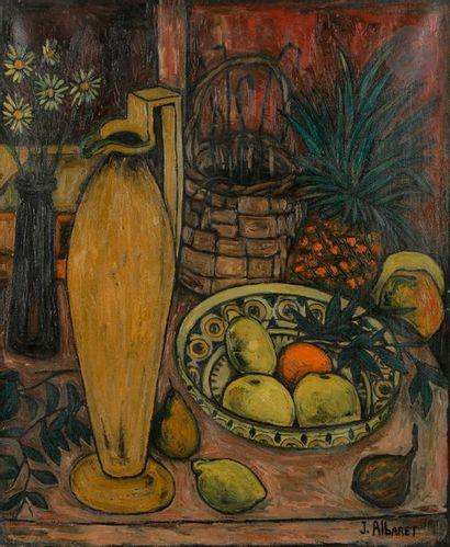 Jean ALBARET (1920-1995) Nature morte aux...