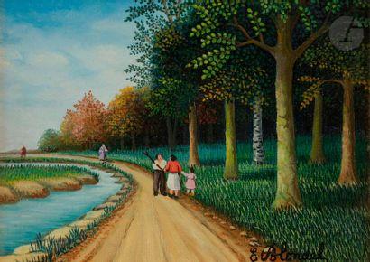 Émile BLONDEL (1893-1970) La Promenade Huile...