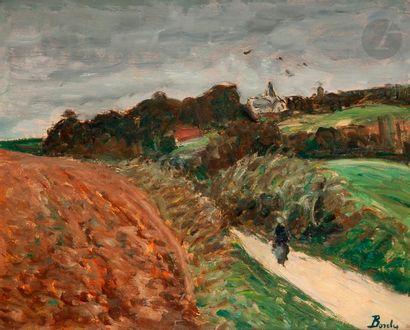 Léonard BORDES (1898-1969) Route à Fontenay...