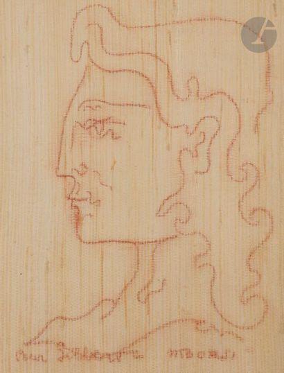 Manfredo BORSI [italien] (1900-1967) Profil Sanguine sur papier fibre. Signée en...
